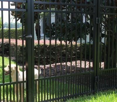 12' Aluminum Ornamental Single Swing Gate - Spear Top Series B - No Arch