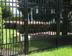 3' Aluminum Ornamental Single Swing Gate - Spear Top Series B - No Arch