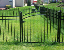 7' Aluminum Ornamental Single Swing Gate - Spear Top Series H - Over Arch