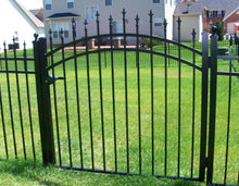3-1/2' Aluminum Ornamental Single Swing Gate - Spear Top Series H - Over Arch