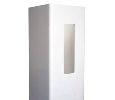 "White 4"" x 4"" x 6' x .115 Routed End Post K-15"