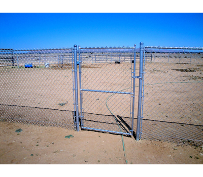 Commercial Chain Link Single Swing Gate - 3' x 8' / No Barbwire