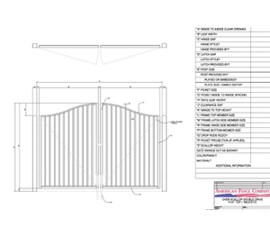 "96"" x 72"" Overscallop Flat Top Double Drive Gate"