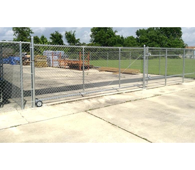 Galvanized Chain Link Rolling Gate - 6' x 4' / No Barbwire