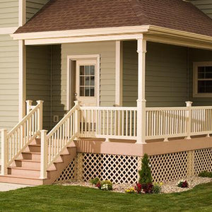 "Vinyl Picket Railing Kit 36"" x 96"" - Chestnut Brown"