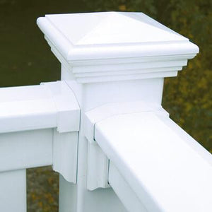 "Vinyl T-Rail Picket Railing Kit 36"" x 72"" - Khaki"
