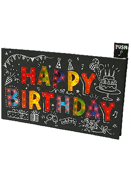 Happy Birthday Card With Flashing Lights