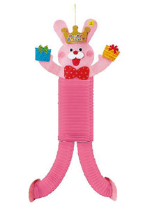 Pink Honeycomb Rabbit With A Crown and Presents