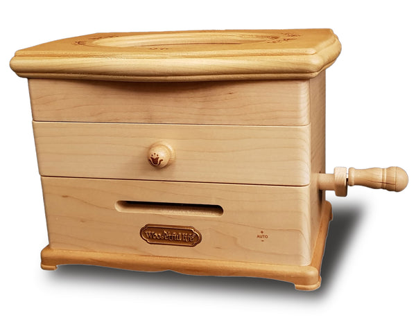 jewellery music box with turn handle