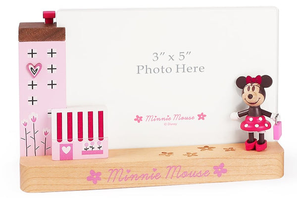 minnie with pink hand bag photo frame