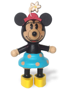 disney minnie with red hat and flower