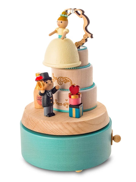 bride on top of wedding cake