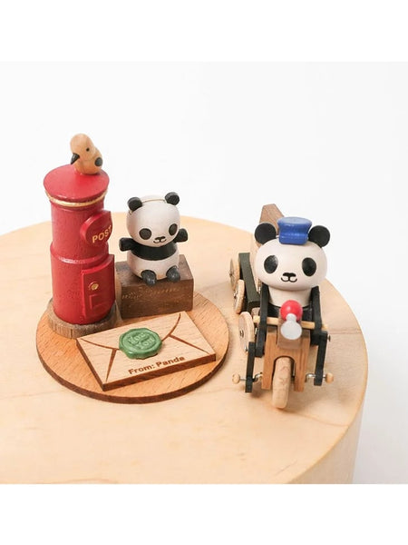 panda mailman with red postbox