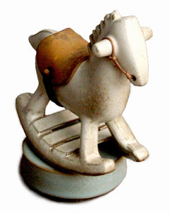 little white rocking horse