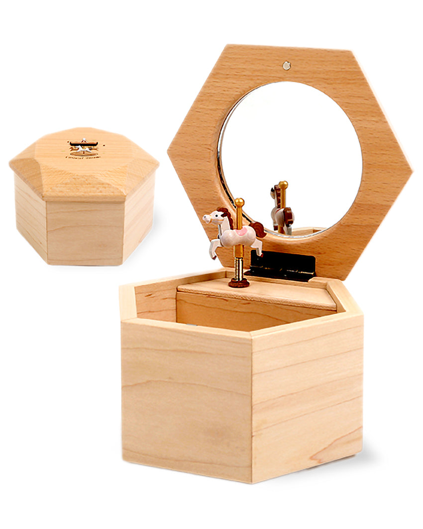 rotating pony jewellery music box