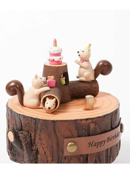 squirrels with birthday cake