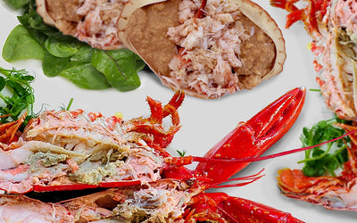 Mother's Day Special Offer: Two Cooked Lobsters and two Dressed Crabs for £65 with Free Shipping