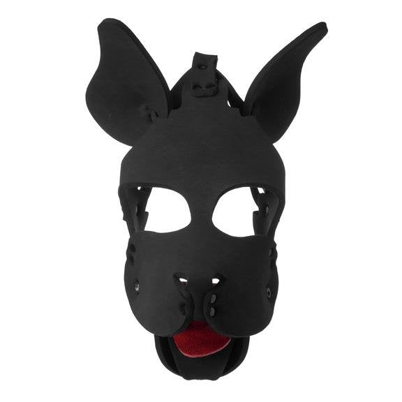 Neoprene Dog Hood with Removable Muzzle - AdultToys For Us
