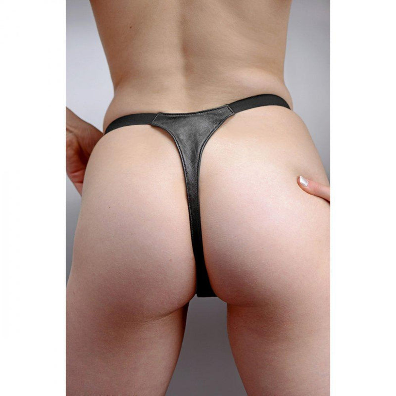 Spiked Leather Thong Panties- SM