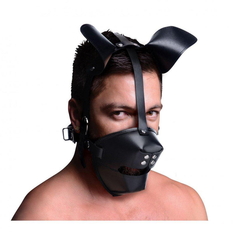 Pup Puppy Play Hood and Breathable Ball Gag - AdultToys For Us