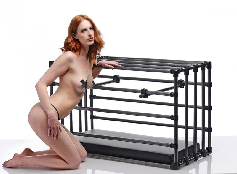 Kennel Adjustable Puppy Cage with Padded Board - AdultToys For Us