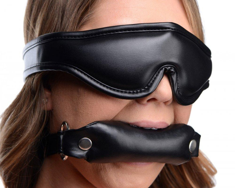Padded Blindfold and Gag Set - AdultToys For Us