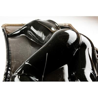 Extreme Black Latex Vacuum Bed - AdultToys For Us