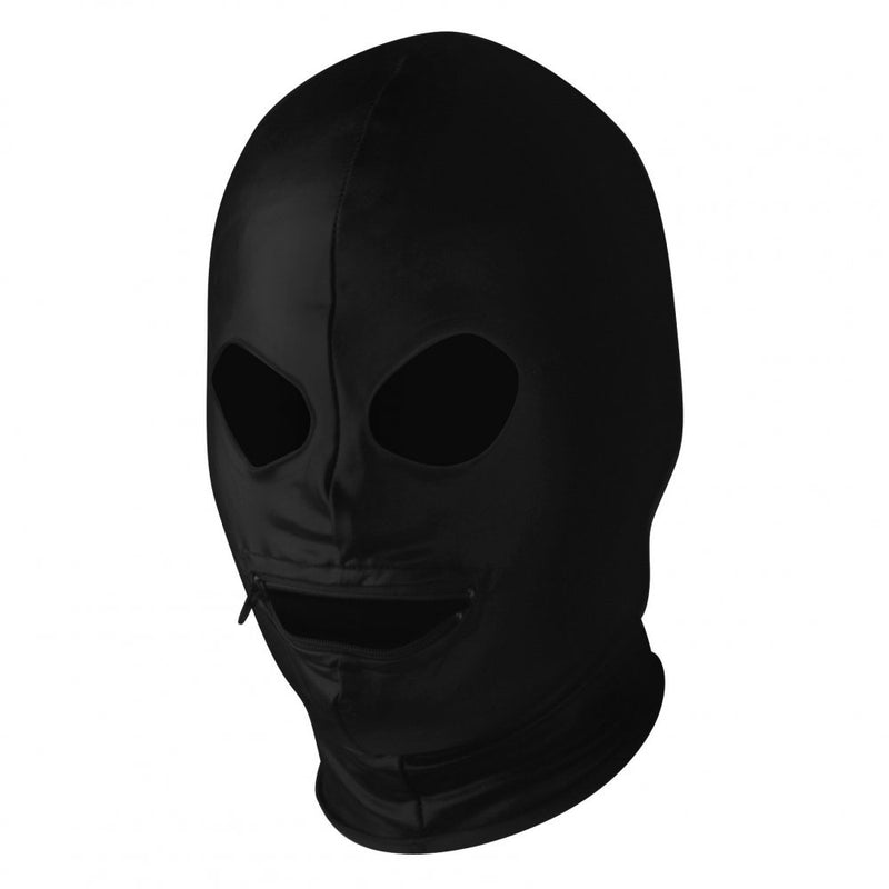 Spandex Zipper Mouth Hood with Eye Holes - AdultToys For Us