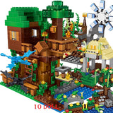 2020 NEW Sets Building Blocks Lepining Village City Tree House Minecraftinglys Waterfall Warhorse Bricks Toys For Children