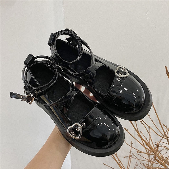 loli sweet lolita shoes platform round head thick heel cross bandage women shoes kawaii shoes cosplay Mary Jane shoes