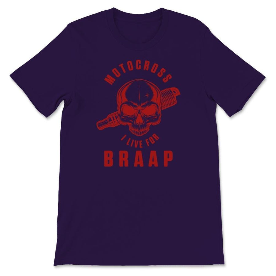 Motocross I Live For Braap Unisex Premium T-Shirt