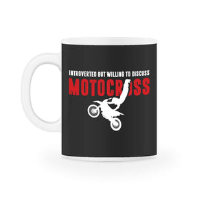 Introverted But Willing To Discuss Motocross Mug