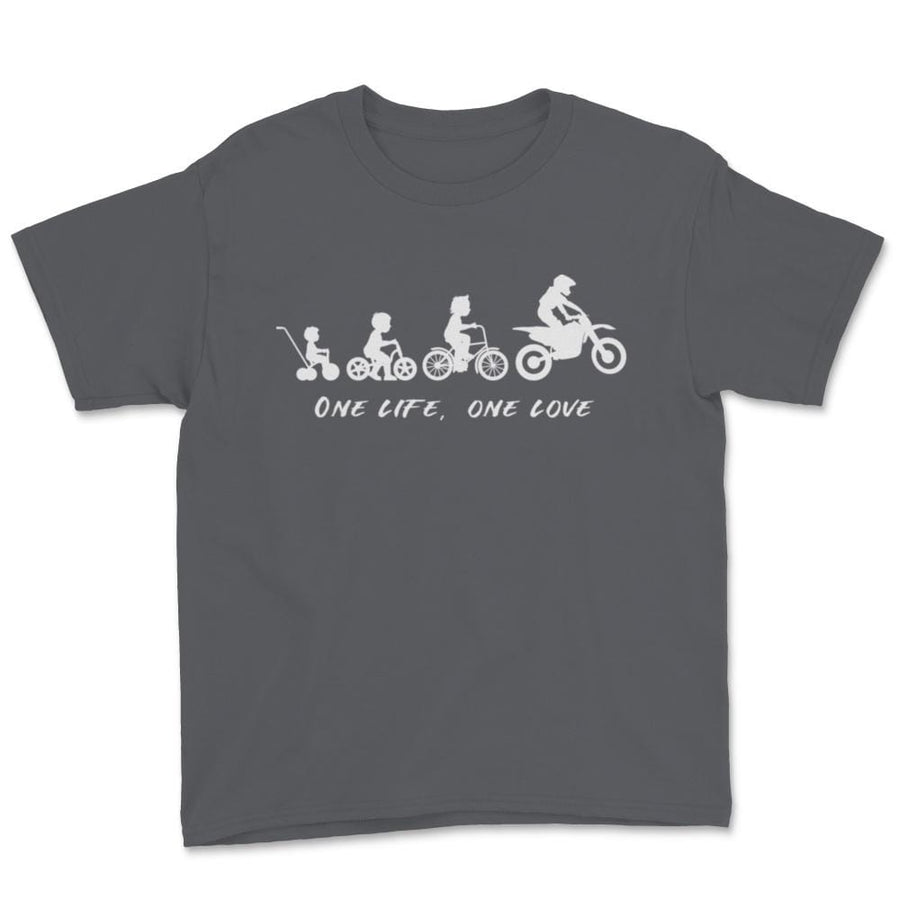 One Life One Love Motocross Evolution Unisex Youth T-Shirt