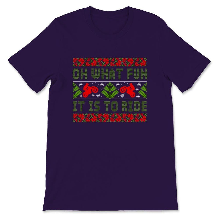 Oh What Fun It Is To Ride Motocross Ugly Christmas Unisex Premium
