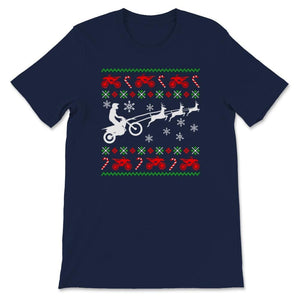 Snow Ride Ugly Christmas Motocross Unisex Premium T-Shirt