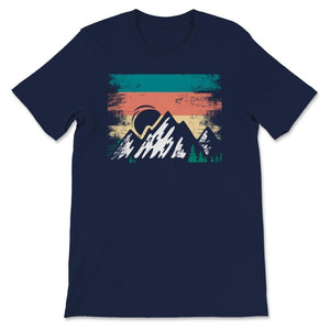 Retro Mountain Hiking Outdoor Unisex Premium T-Shirt