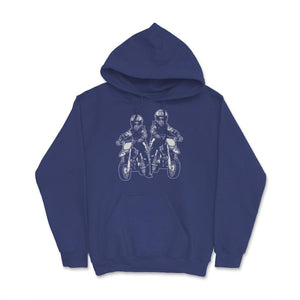 Two Motocross Kids Family Dirt Bike Unisex Hoodie