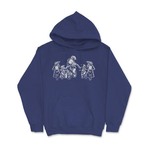 Father And Kids Motocross Family Unisex Hoodie