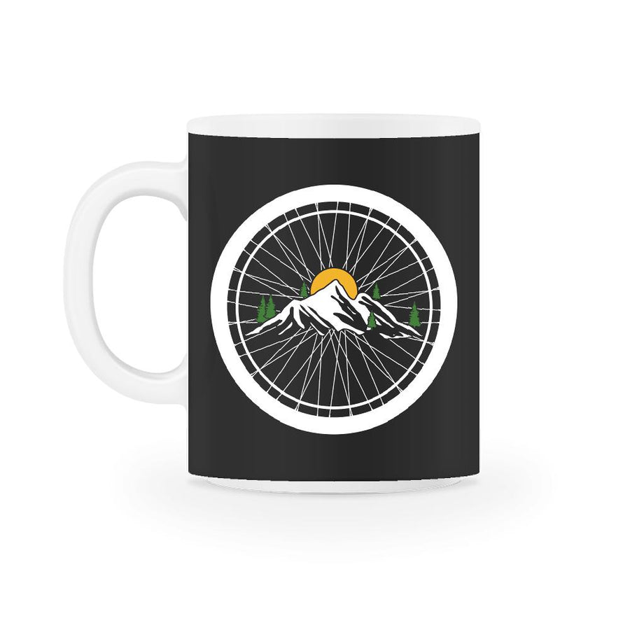 Bike Wheel Biker Mountain  Mug