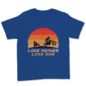 Like Father Like Son Retro Motocross Unisex Youth T-Shirt