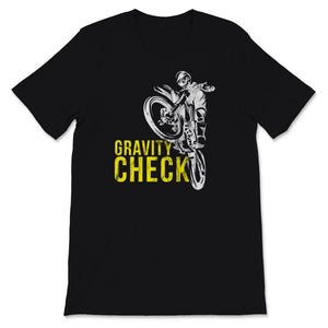 Gravity Check Motocross Youth Kids Unisex Premium T-Shirt