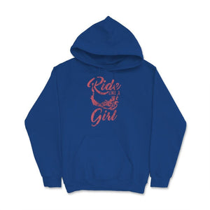 Ride Like A Girl Motocross Unisex Hoodie
