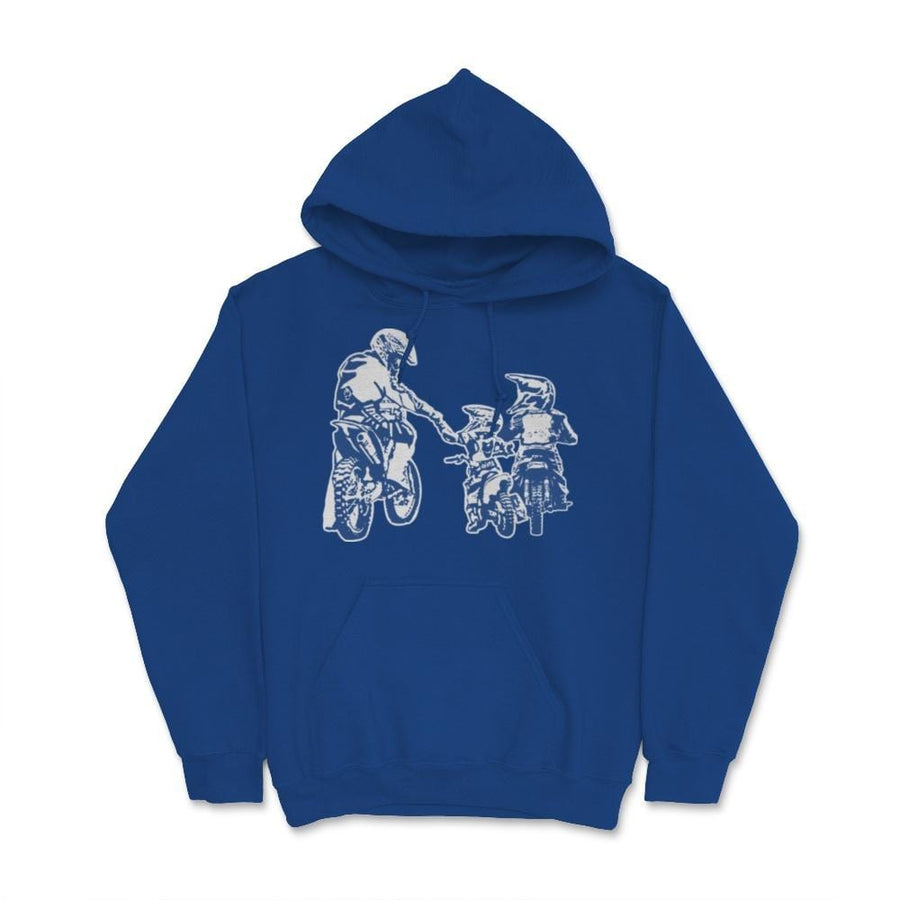 Father And Two Children Motocross Family Unisex Hoodie
