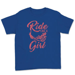 Ride Like A Girl Motocross Unisex Youth T-Shirt