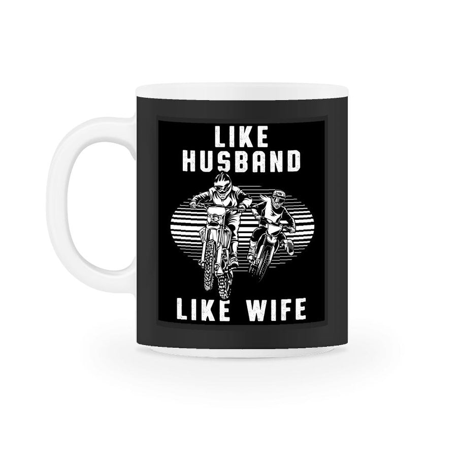 Like Husband Like Wife Motocross  Mug