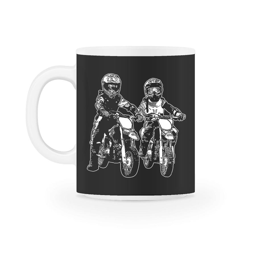 Two Kids Motocross Family Mug