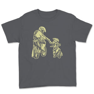Father And Son Father And Child Motocross Unisex Youth T-Shirt