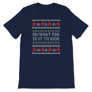 Oh What Fun It Is To Ride Ugly Christmas Motocross Unisex Premium