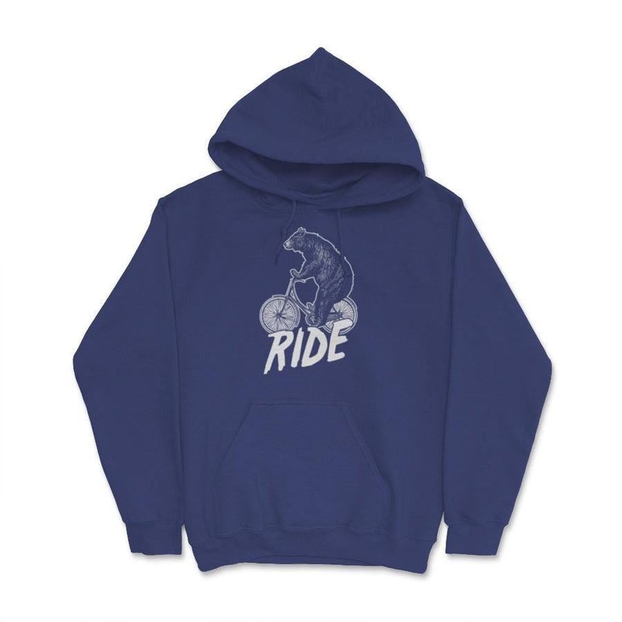 Bear Ride Bike Mountain Bike Unisex Hoodie