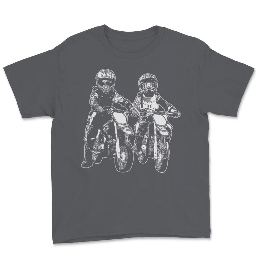 Two Kids Motocross Family Unisex Youth T-Shirt